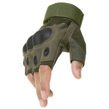Esportes ao ar livre tático luvas sem dedos do exército militar tático escalada ciclismo equitação airsoft ginásio metade dedo luvas