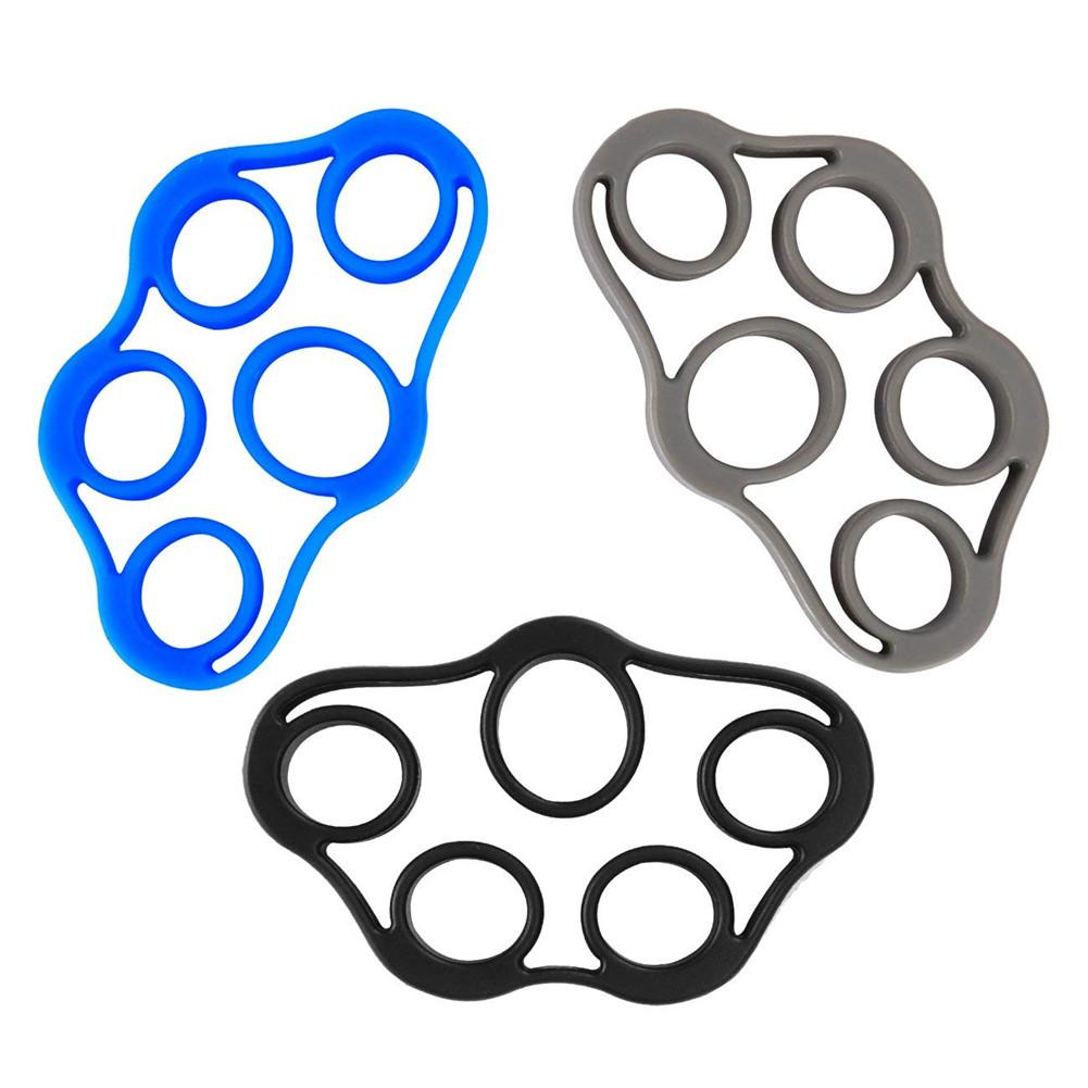 3pack Finger Stretcher Hand Grip Silicone Finger Gripper Strength Fingertip Training Toys Wrist Bands Yoga Exercise Stretcher