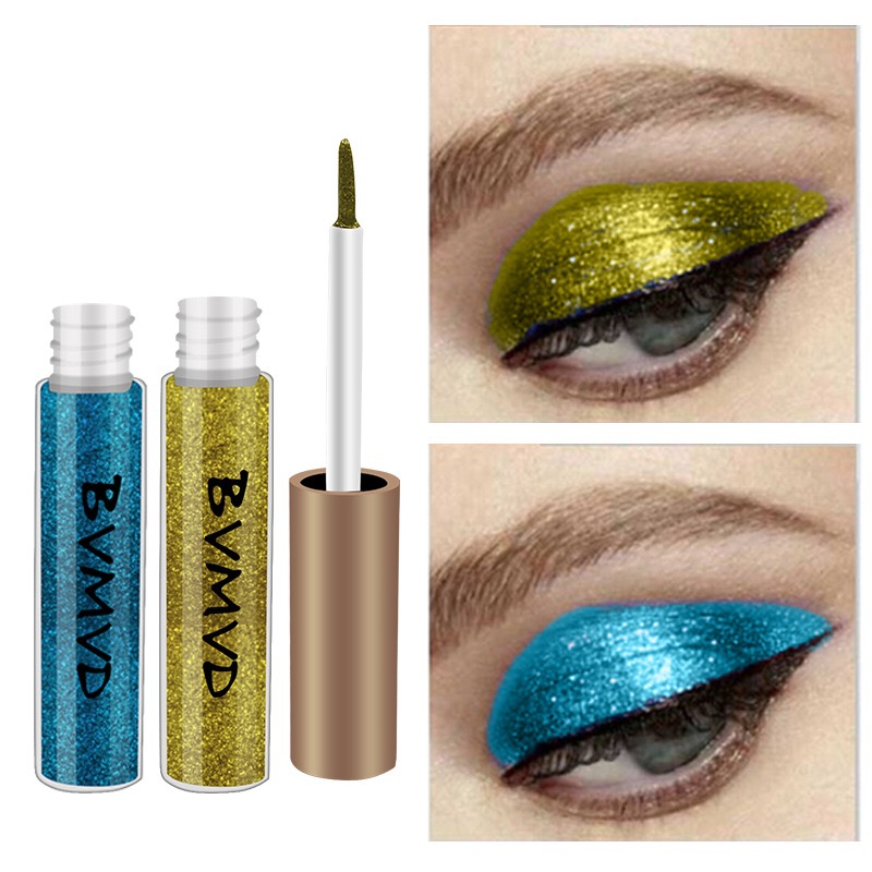 10 Colors Makeup Liquid Glitter Eyeshadow Eyeliner Silver Rose Gold Color Eyeliner Eyes Full Professional Makeup For Eye Cosmeti