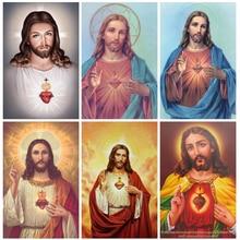 HUACAN набор алмазных картин, стразы 5D, сделай сам, алмазная вышивка, вышивка крестиком, мозаика Иисуса, распродажа, подарок ручной работы
