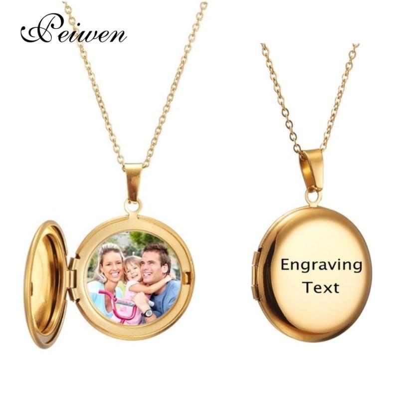 Персонализированные индивидуальный кулон ожерелье круг фото медальон гравировка имени с двумя часовыми поясами из нержавеющей стали для м...