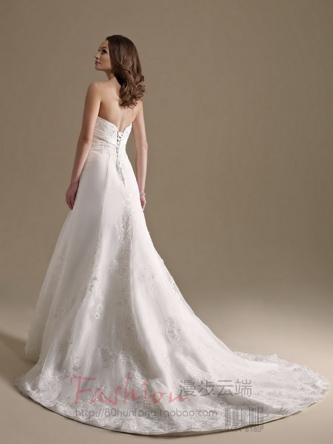 free Shipping casamento beading vestido de noiva 2016 new fashionable romantic appliques sexy long wedding Dress bridal gown