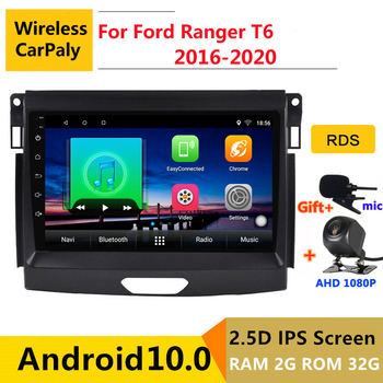 android 10.0 car radio auto stereo for Ford Ranger T6 2016 2017 2018 2019 2020 navigation GPS DVD Multimedia Player image