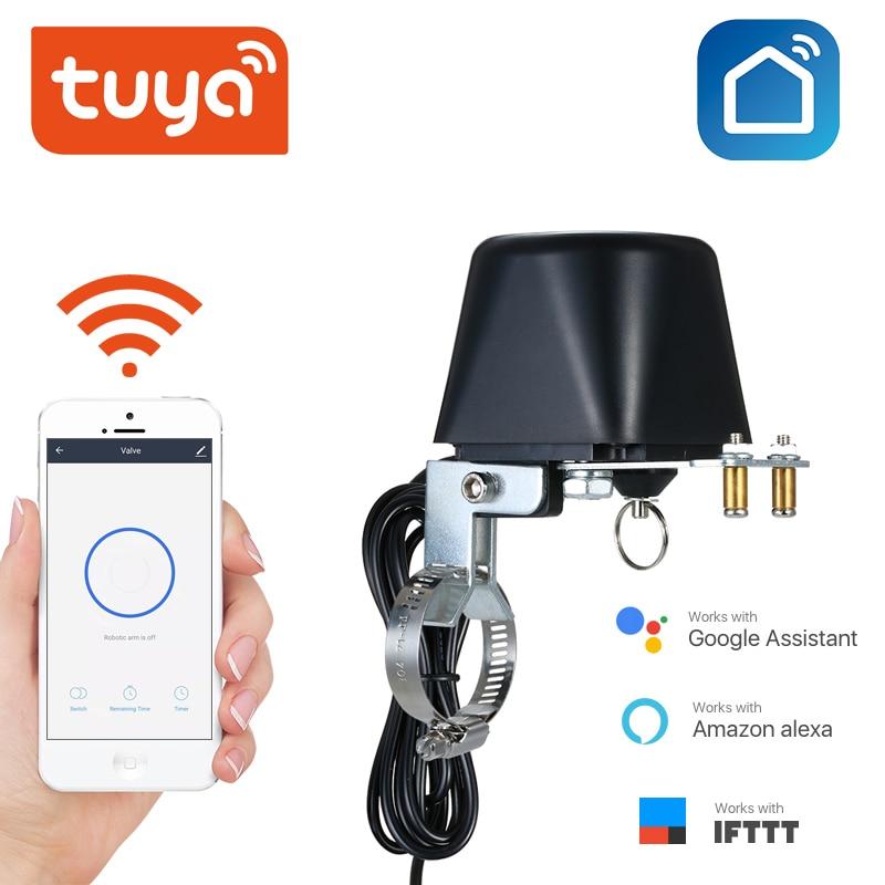 Tuya Amazon Alexa Google Assistant IFTTT Smart Wireless Control Gas Water Valve Tuay SmartLife App WiFi Shutoff Controller