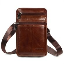 Crossbody Shoulder Bag Men Vintage PU Leather Small Phone Belt Holster Pouch Case Waist