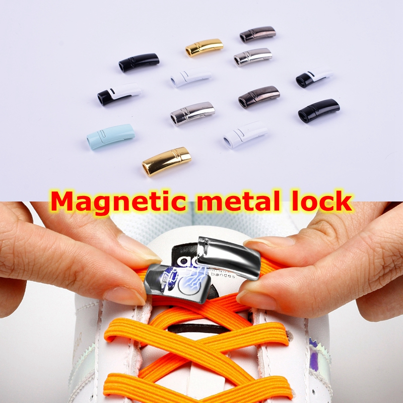 Magnetic Shoelaces Metal Lock Buckle Suitable For All Kinds Of Shoes Lazy Laces Buckle Child Adult Casual Unisex No Tie Shoelace