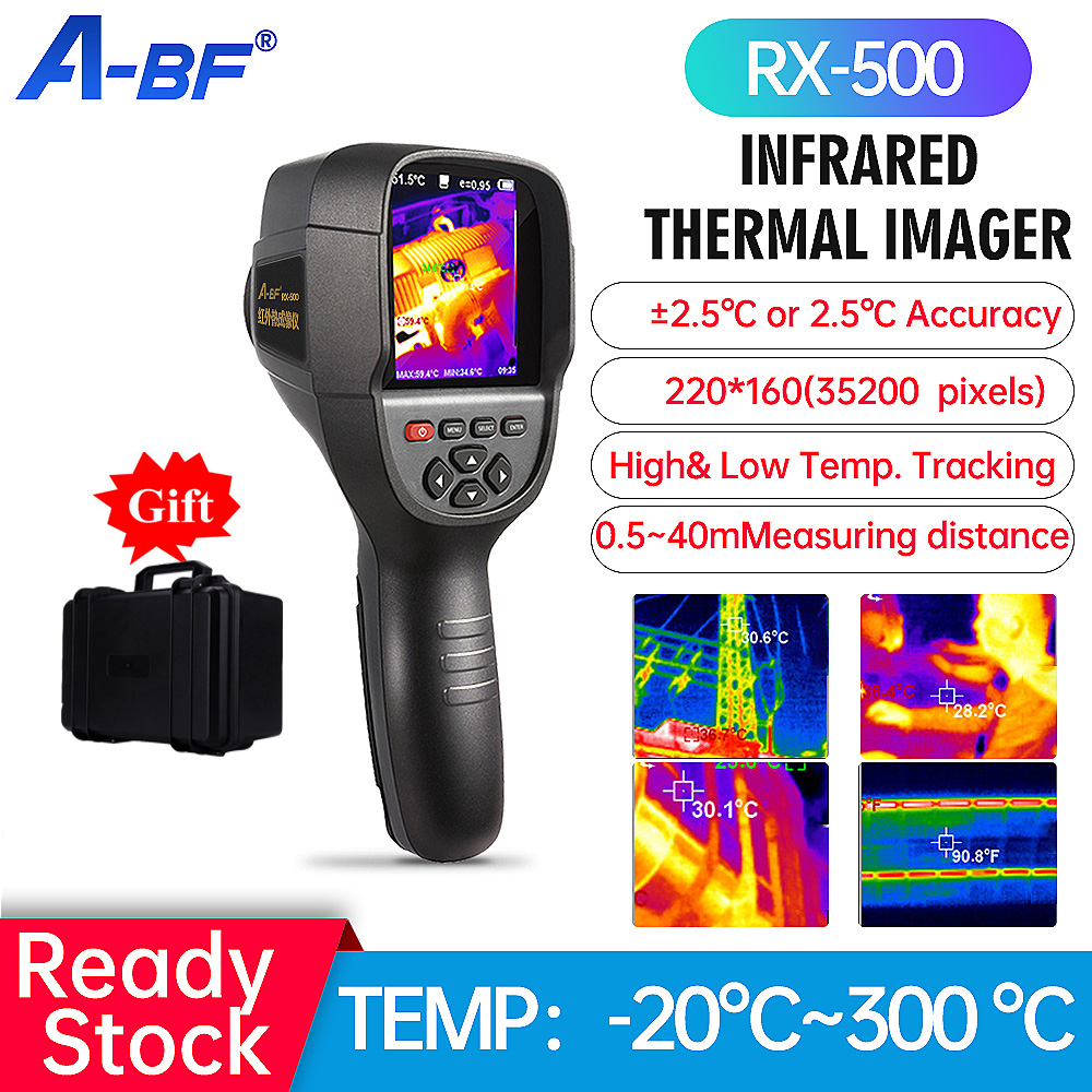A-BF RX-500 Infrared Thermal Imager Handheld Thermal Imaging Camera Industry Thermography HD Floor Wall Heating Pipe Test