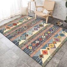 Retro Ethnic Geometric Pattern Carpet Printed Indian Tapis Soft Carpets For Living Room Anti-slip Rug Floor Mat Home Decor