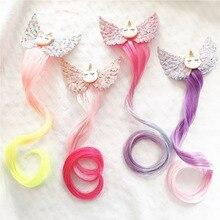 Headband Hairpins Unicorn Princess Barrettes Hair-Ornament Girls New Gradient Colorful