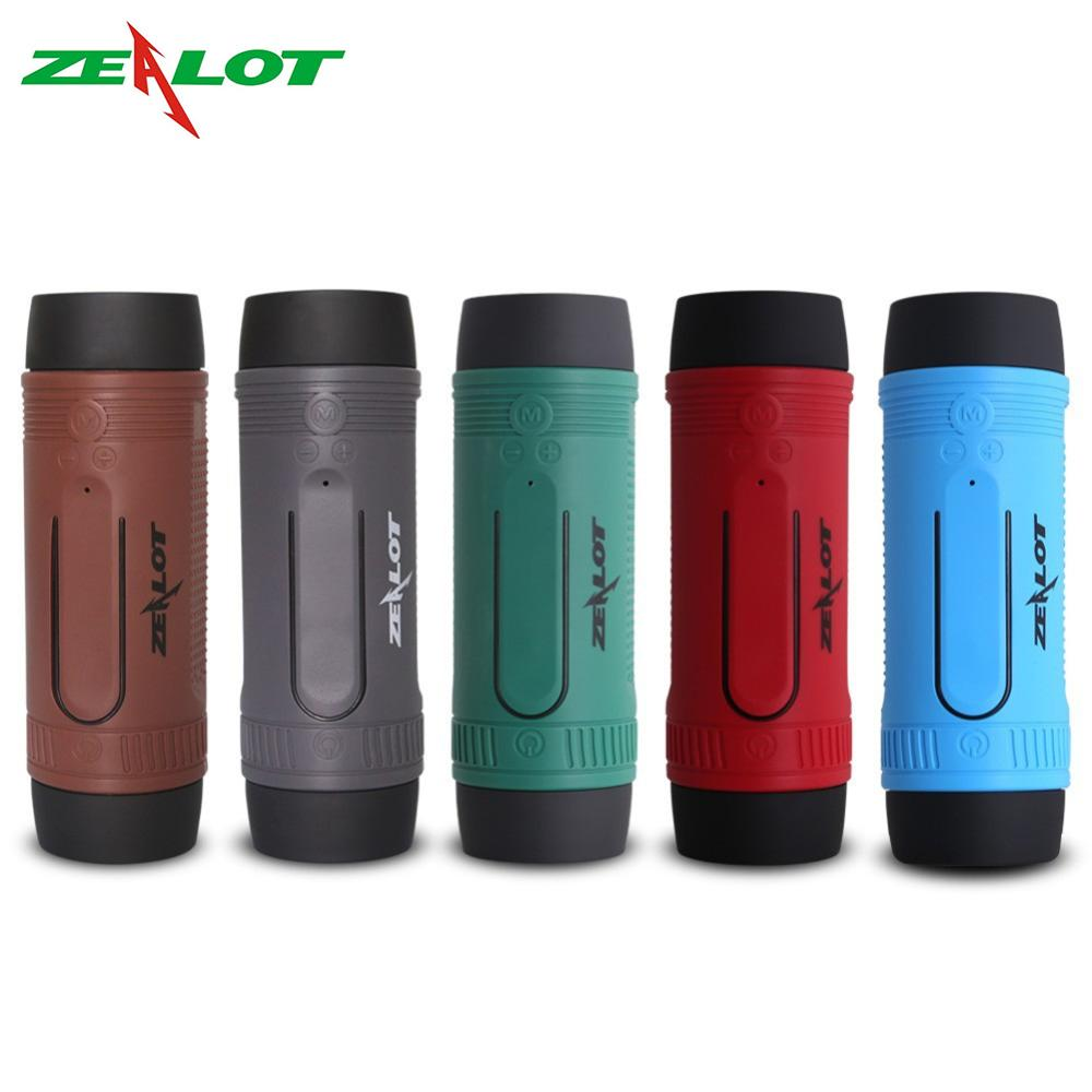 ZEALOT S1 Bluetooth <font><b>Speaker</b></font> Radio Waterproof Outdoor Bicycle <font><b>Speaker</b></font> Portable Wireless Boombox+ Flashlight+<font><b>Bike</b></font> <font><b>Mount</b></font> <font><b>speaker</b></font> image