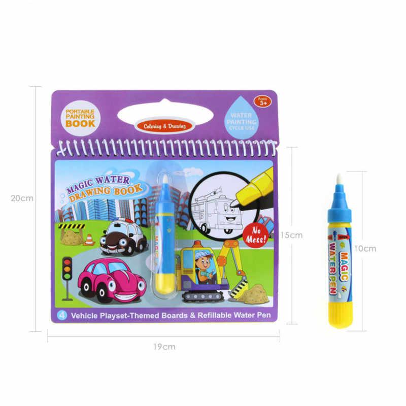 Sihir Air Menggambar Buku Mewarnai Doodle & Magic Pen Lukisan Papan untuk Anak-anak Kerajinan dan Kesenian Mainan Pendidikan Hadiah Ulang Tahun