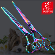 Fenice 6.5 inch Professional Pet Grooming Scissors Set Dog Hair Cutting Shear Thinning Kit Tools