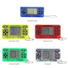 Reproductor de juegos de mano clásico Retro Vintage portátil consola llavero accesorio para niños Tetris consola de juegos nueva