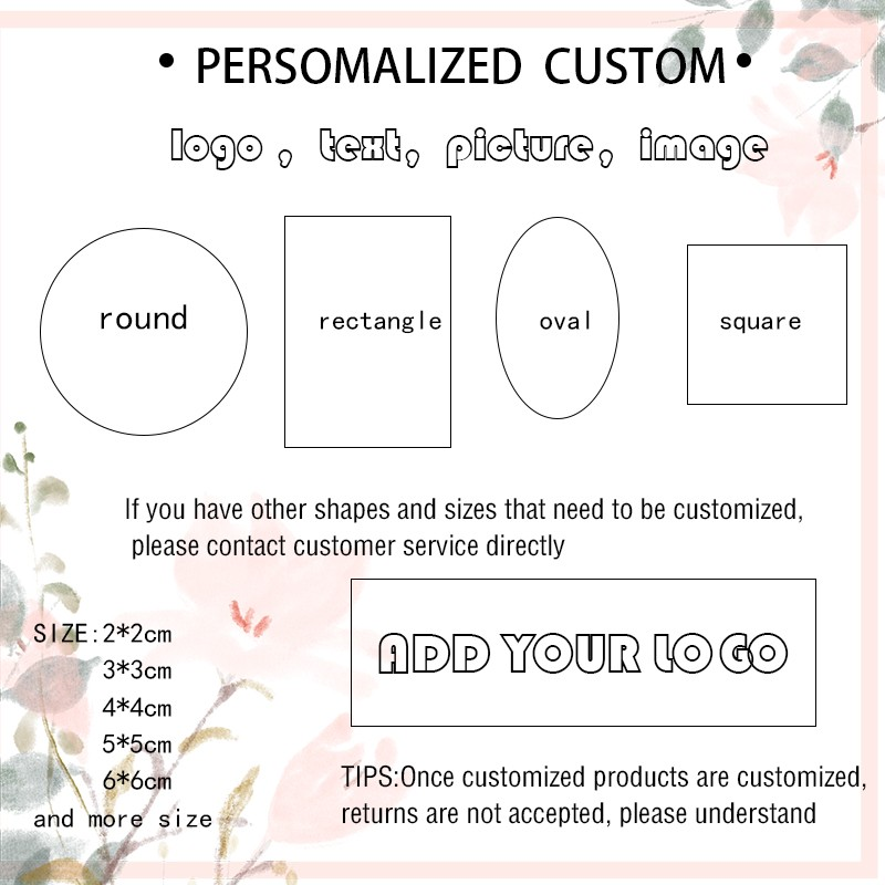 100 шт. DIY круглые квадратные наклейки на заказ ярлык