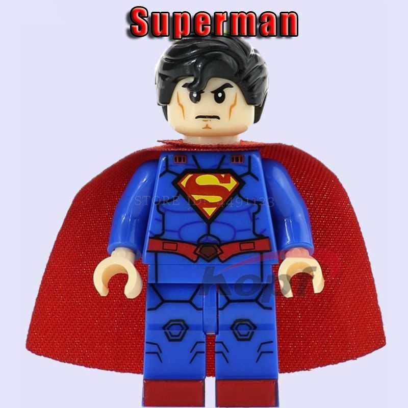 Bloques Superman Set Liga de la justicia Batman Red Son cyalborg Superboy aquamán Lex Thor Jor-El juguetes vengadores figuras en bloques de juguete