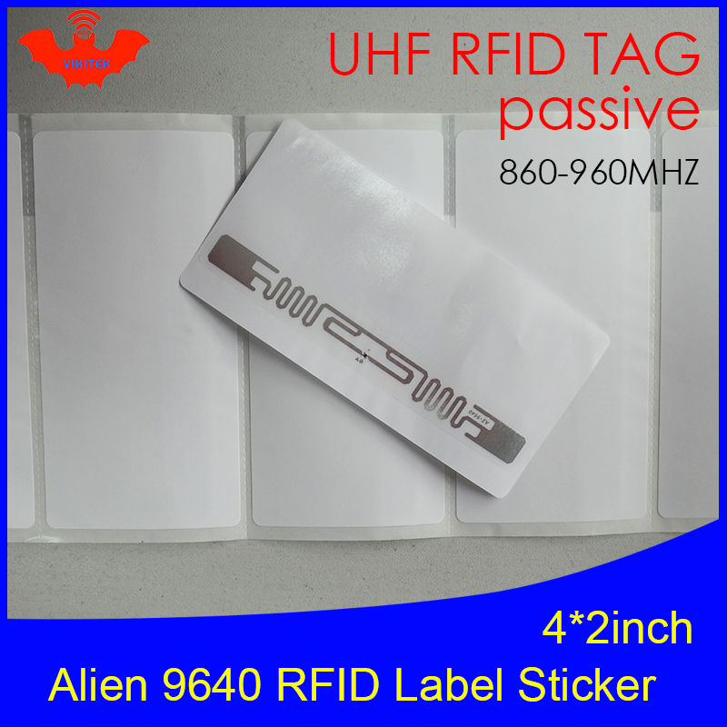 UHF RFID Tag Sticker Alien 9640 Printable Copper Label 915mhz 860-960MHZ Higgs3 EPCC1G2 6C Smart Adhesive Passive RFID Tags Labe