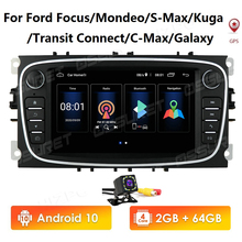 Car Radios Multimedia-Player Audio Android-10 gps Kuga/transit 7inch