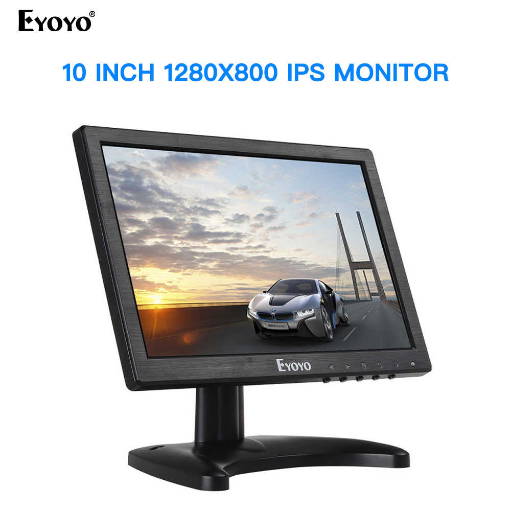 Eyoyo C711 10 Inch Monitor Small Hdmi Monitor Portable vga Monitor CCTV  Screen LCD 1280x800 16:10 IPS Monitor BNC AV/VGA| | - AliExpress