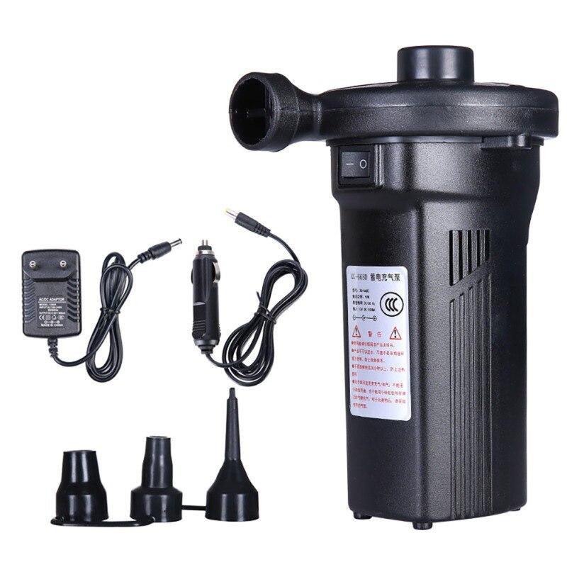 1200mAh Air Pump Outdoor Electric Air Pump Fast Filling Portable Car Auto Inflate Air Mattress Pump Rechargeable EU/UK/US Plug
