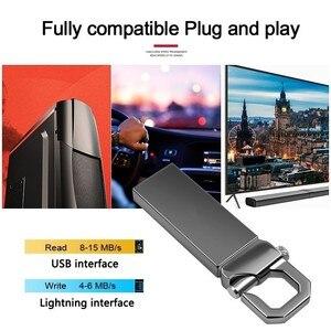 Pamięć Usb przenośny metalowa pamięć Usb Flash szary Pen Drive 2.0 4GB 8G 16G 32GB Pendrive 64GB 128GB 256GB Flash Pendrive klucz Usb
