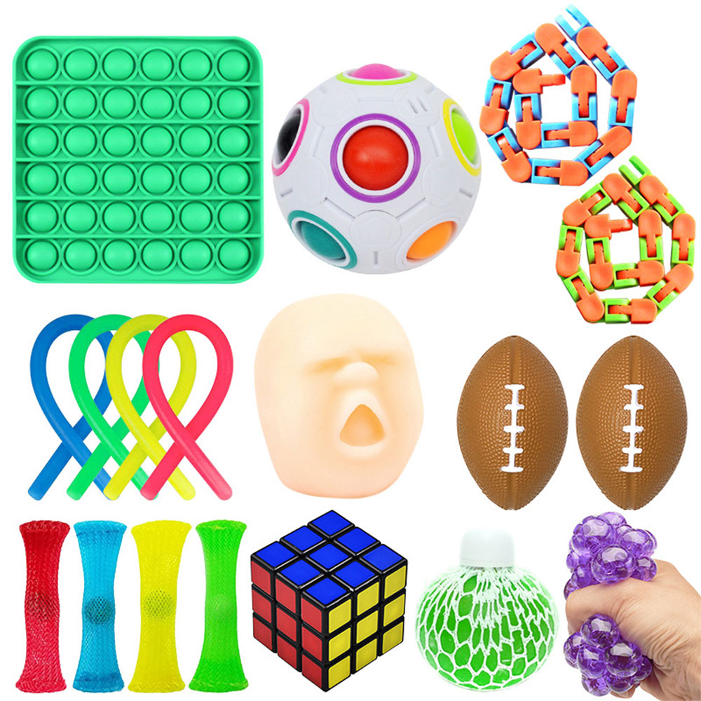 Sensory Toy Set Stress Relief Toy Autism Anxiety Relief Stress squeeze Bubble Antistress img5