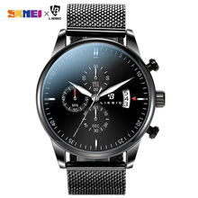 цены Casual Waterproof Men Quartz Wrist Watches Fashion Leather Steel Strap Male Sport Watches reloj hombre Clock relojes para hombre