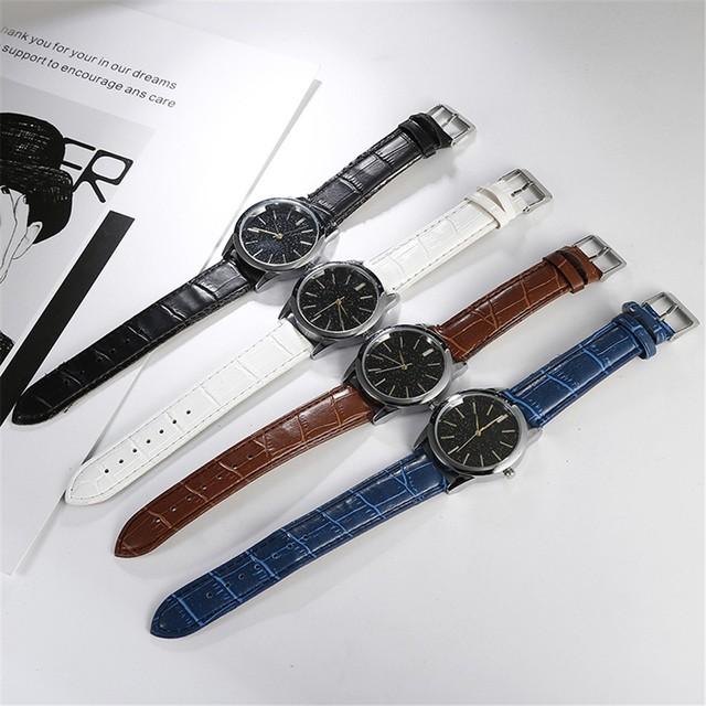 Popular watches men Casual Net With Stars Decoration Fashion Wild Belt Watch watches men luxury brand Z