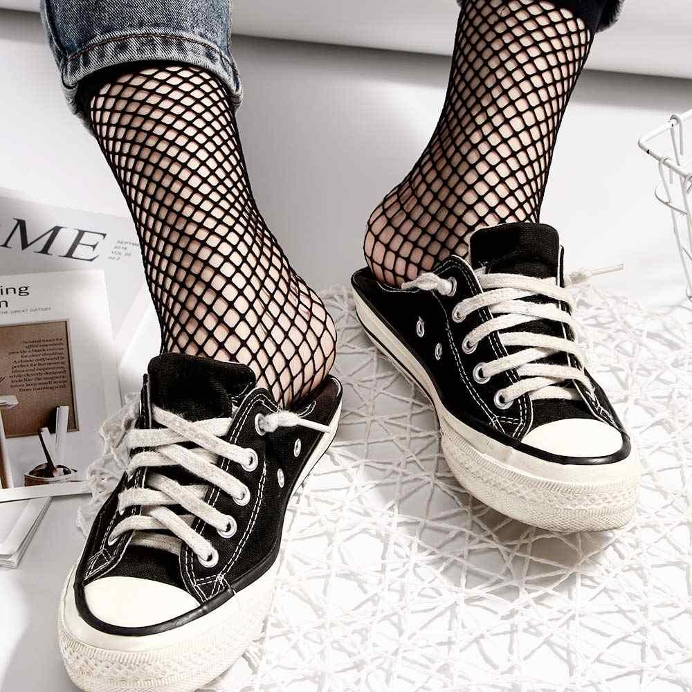 1 par de meias líquidas moda feminina senhora sexy rendas tornozelo alta malha fishnet curto tripulação meias moda verão meias curtas nova quente