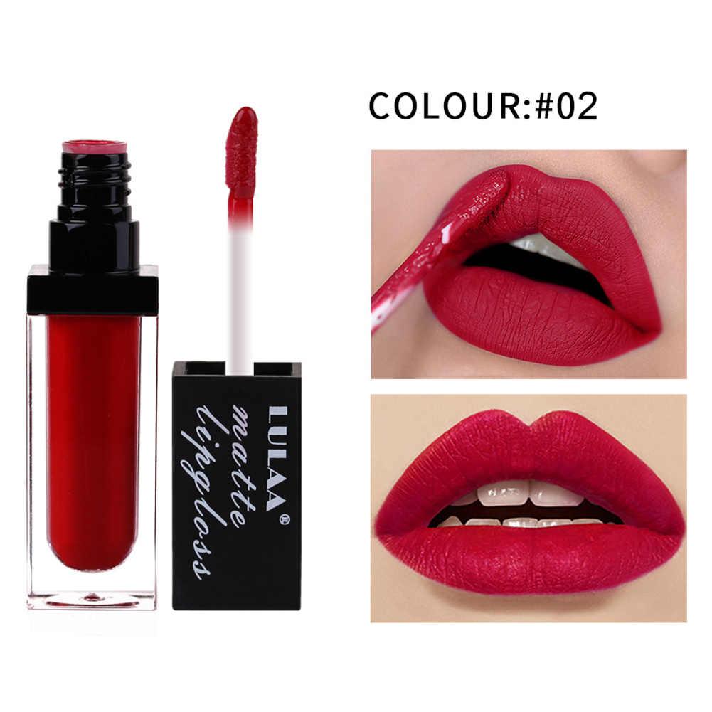 עמיד למים מט שפתיים הגהות לאורך זמן נוזל שפתון יופי קוסמטי EY669