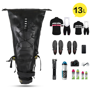 Image 5 - Rhinowalk Bike Wasserdichte Fahrrad Sattel Tasche Reflektierende Große Kapazität Faltbare Schwanz Hinten Tasche Radfahren MTB Stamm Pannier Schwarz