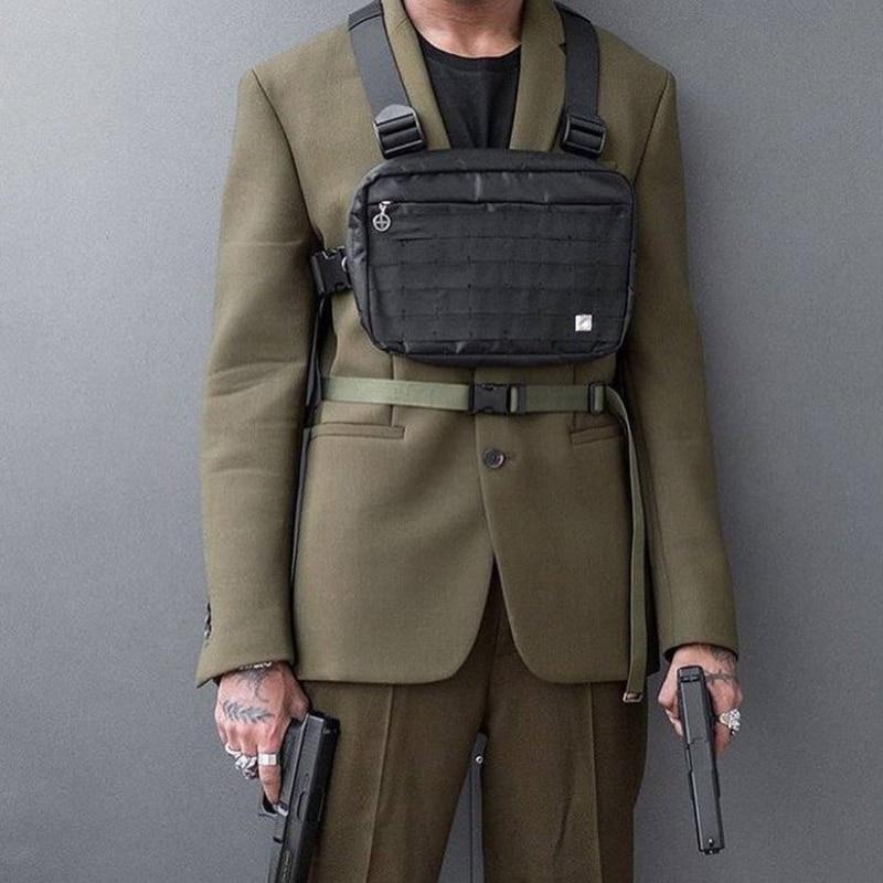 Alyx Tactical Vest Black Fanny Pack Street Rock Chest Bag Men Banana Bag Unisex High Capacity Kidney Shoulder Bag Hip Hop Pack
