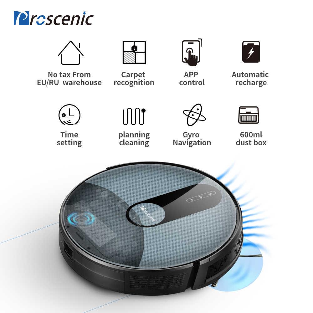 Proscenic 820P 1800Pa Robot Vacuum Cleaner 3in1 Rute Yang Direncanakan Cuci Smart Robot dengan Pembersihan Basah Pembersih Karpet untuk aplikasi Rumah