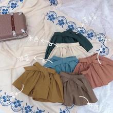 Shorts Girls Cotton Fashion Summer New with Belt 1-6t/b43 Wholesale