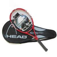 100% Original KOPF Tennis Schläger Freies Mit Tennis Tasche Top Carbon Faser Material Mit Tennis String Feste Für Spiel Und ausbildung