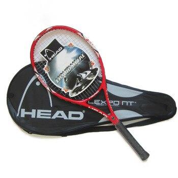 100% original cabeça raquete de tênis livre com saco de tênis superior material de fibra carbono com corda de tênis fixo para jogo e treinamento