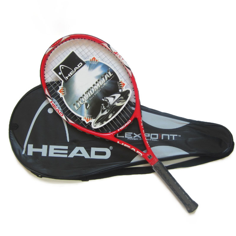 100% raquette de Tennis principale originale libre avec le matériel supérieur de Fiber de carbone de sac de Tennis avec la ficelle de Tennis fixée pour le Match et l'entraînement