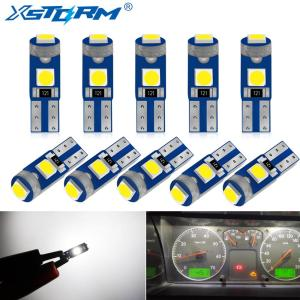 10Pcs T5 LED W1.2W 27 74 86 206 Super Bright 3 SMD 3030 LED Car Interior Light Auto Side Wedge Dashboard Instrument Lamp Bulb 12