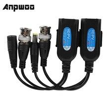 Anpwoo 1 par passivo cctv coaxial bnc vídeo power balun transceptor para rj45 conector venda quente