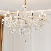 Led קריסטל נברשת בית תאורת luminaire lustres דה cristal מודרני מטבח חדר אוכל נברשות סלון candelabro
