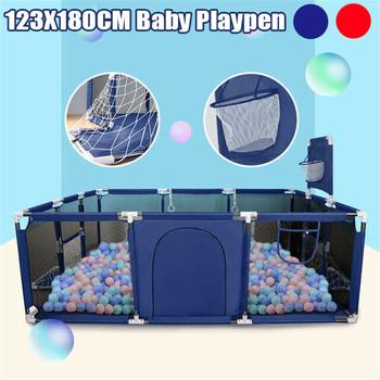 Kojec dla dzieci piłki basenowe dla noworodka płot kojec dla basen dla dzieci dzieci dzieci niemowlęta składana bariera bezpieczeństwa tanie i dobre opinie bioby 3 lat Metal 120X180cm SKUE45334 Astm Cartoon