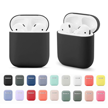 Soft Silicone Cases For Apple Airpods 1/2 Protective Bluetooth Wireless Earphone Cover For Apple Air Pods Charging Box Bags for apple air pods charging box protective cover luxury crocodile pattern leather bluetooth wireless earphone case for airpods