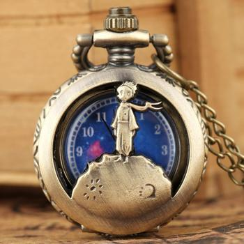 Vintage Necklace Chain Pocket Watch Hollow-out Dial for Boy Gil The Little Prince Pendant el principito reloj de bolsillo - discount item  35% OFF Pocket & Fob Watches