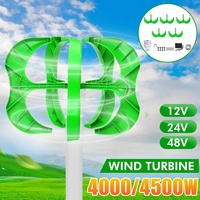 4500W 12/24/48V Wind Power Turbines Generator 5 Blades generator Lantern wind turbines Vertical Axis For Streetlight+Controller