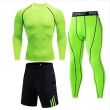 2020 Thermal Underwear Long Johns Set Men's Cycling Shirt Compression Long Sleeve Shirts Winter Thermal Underwea Set clothing