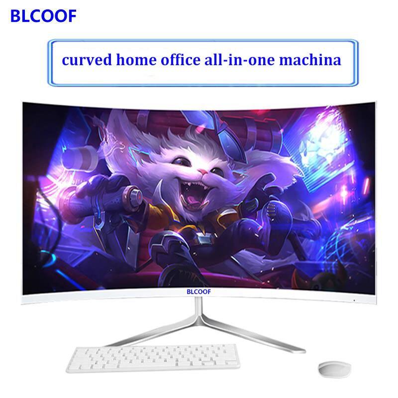 """24 inç """"kavisli yüzey all-in-one makine yüzey intel core i5 İşlemciler ev ofis masaüstü bilgisayar oyunları dahili wifi"""