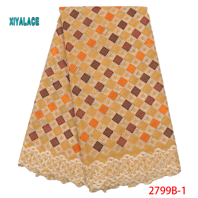 Hot Selling African Swiss Lace Fabrics Nigerian Lace Fabric 2019 High Quality Lace Pink French Lace Fabric For Wedding YA2799B-1