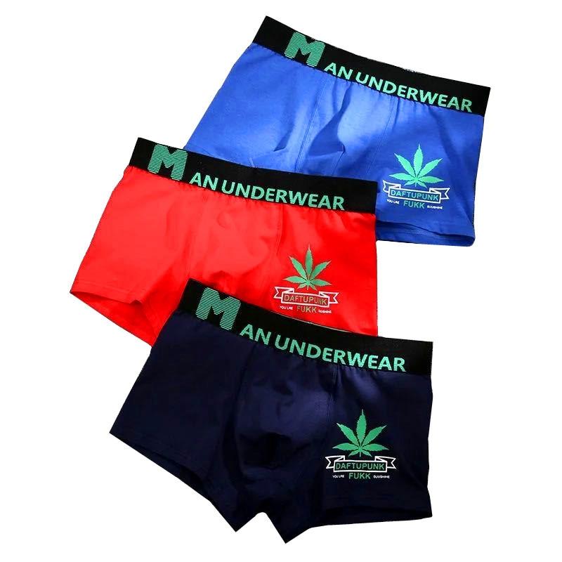 Weed Underwear Men 365 Cotton Boxers Shorts Printed X Underpants Hombre Maple Leafs Cuecas Boxer Cartoon Cat Panties Homme