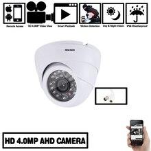 Cámara domo NINIVISION 4.0MP AHD HD 2560*1440 4MP Interior Exterior Domo blanco Cámara de vigilancia de seguridad CCTV con Kits de 4mp