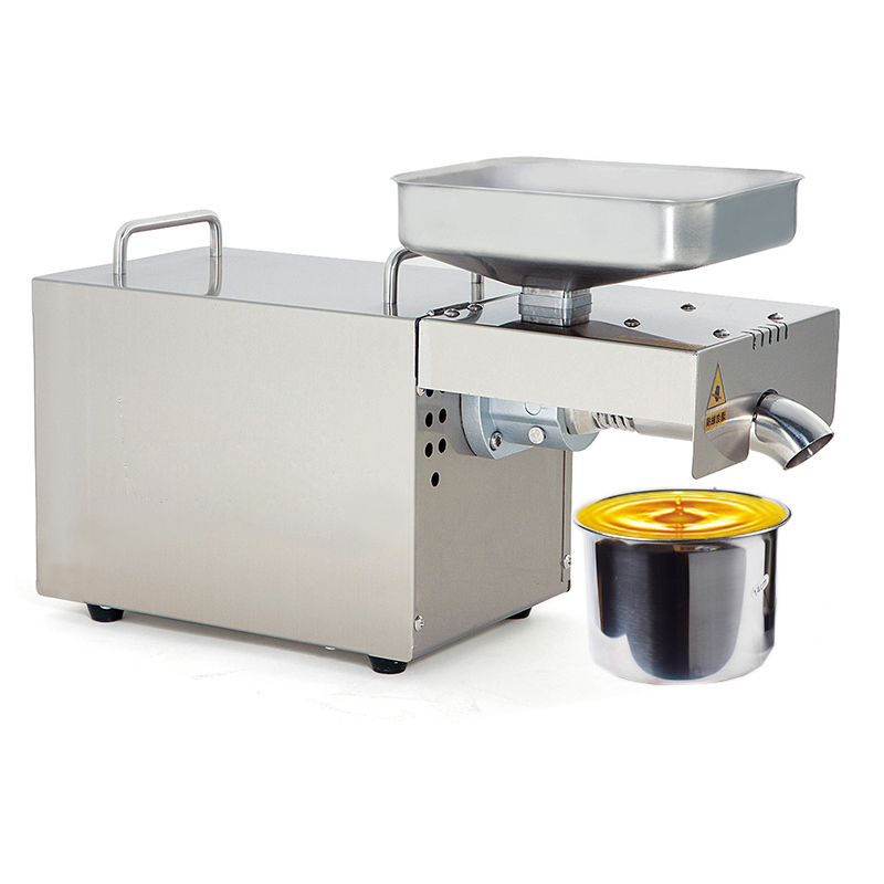 JamieLin Automatic Cold Oil Press Machine Flaxseed Oil Extractor Peanut Oil Pressing Machine Cold Press Oil Machine