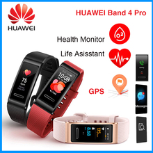 HUAWEI להקת 4 פרו GPS מסך מגע חכם להקת דם חמצן שינה כושר מסלול Monitor ספורט עמיד למים חכם צמיד